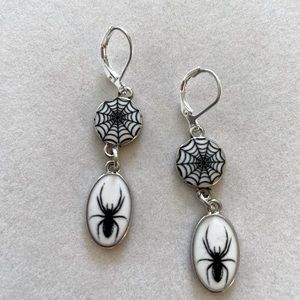 Spider and Web Earrings, NWT